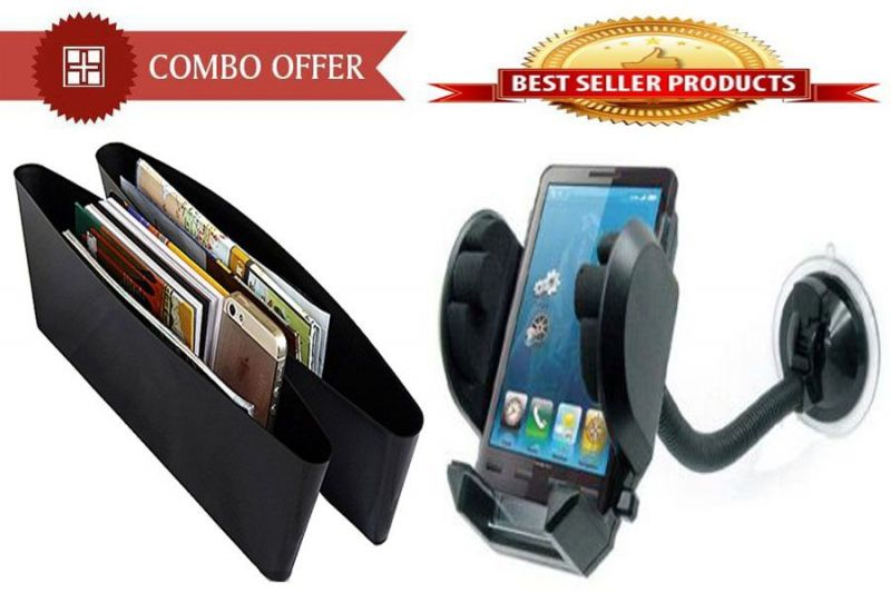 Buy Buy Combo Offer! Car Catch Caddy And Mobile Stand Holder Mount - Cmcsmr online