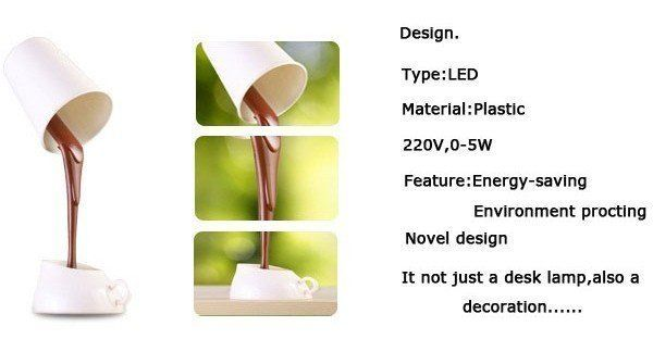 Buy Coffee Cup Decorative Night Light Desk Lamp With 8 LED online