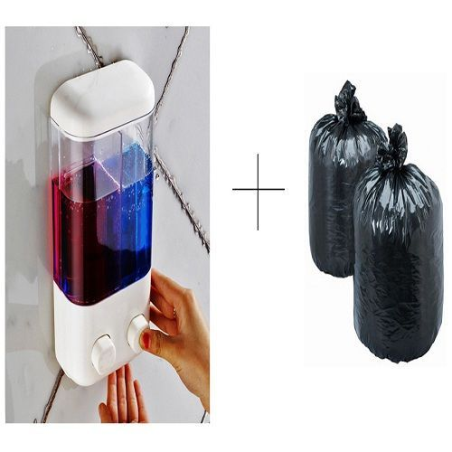 Buy Buy Double Soap Dispenser With Free Disposables Garbage Bag 120 Pcs online