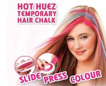 Buy Temporary Hair Chalk- 4 Hot Pink Blue Fuchsia online