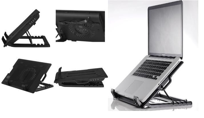 Buy Ergostand Adjustable Laptop Stand And Cooler With USB Fan online