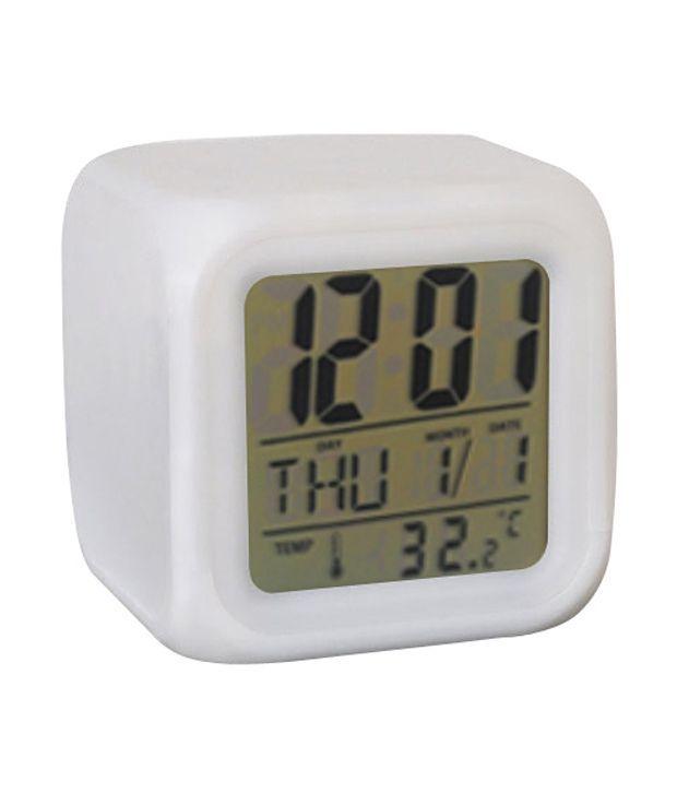 Buy Glowing LED Color Mood Changing Digital Alarm Clock online