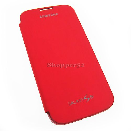 Buy Red Samsung Galaxy S4 I9500 Leather Flip Cover online