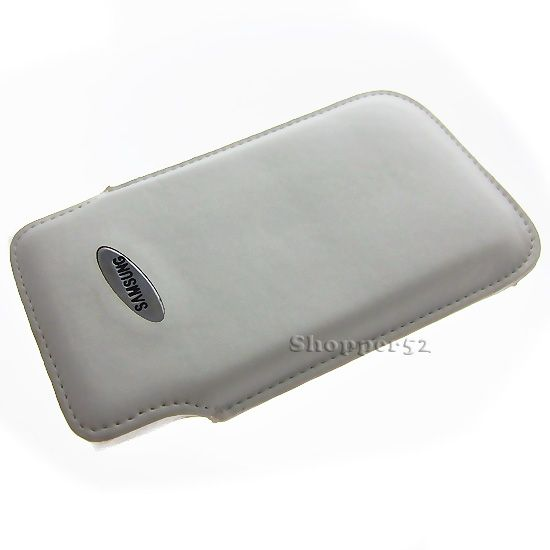 Buy White Vertical Soft Pouch Leather Cover Case For Samsung S2 S3 S4 online