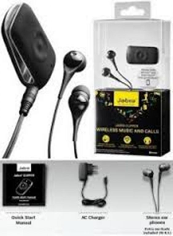 Buy Jabra Clipper Stereo Music Multipoint Wireless Bluetooth Headset - Jabclip online