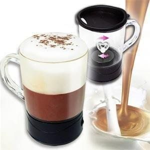 Buy Self Stirring Magic Mug Transparent Glass Coffee Mixing Cup Automatically online