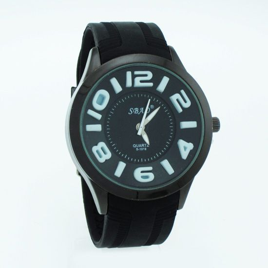 Buy Black Designer Mens Boys Fiber Wrist Watch online