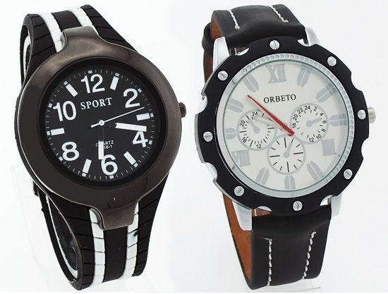 Buy Buy 1 Get 1 Freedesigner Menstylish Wrist Watch online