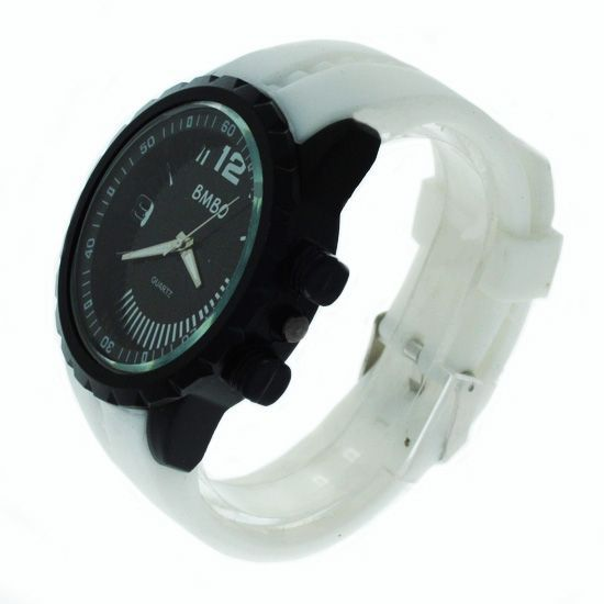 Buy White Designer Mens Boys Fiber Wrist Watch online
