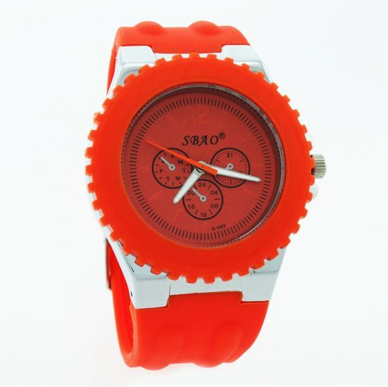 Buy Orange Designer Mens Boys Fiber Wrist Watch online