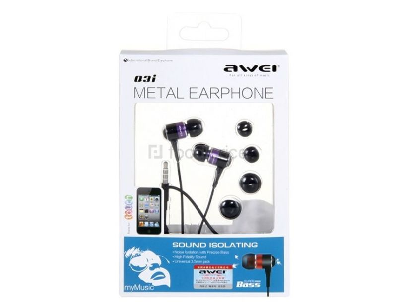 Buy Awei Es-q3i 3.5mm Plug In-ear Stereo Earphone With Samsung S2 S3 S4 Note2 online