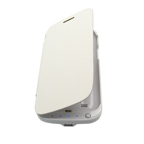 Buy 3000mah Portable Backup Battery Charger Case For Samsung Galaxy S4 Mini White online