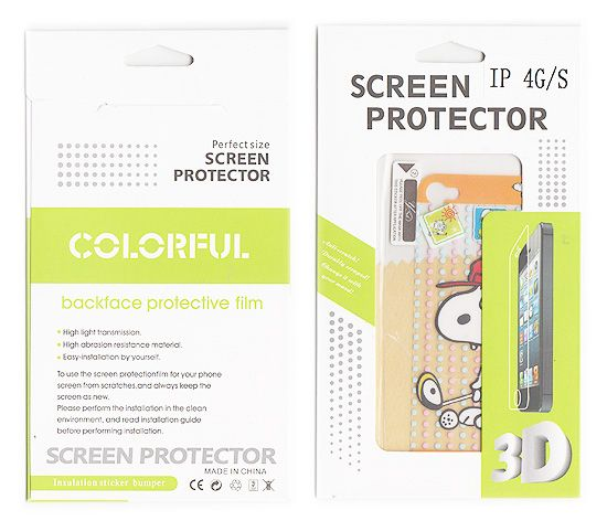 Buy Designer Front And Back Screen Protector Skin For Apple iPhone 4 4s Scr407 online
