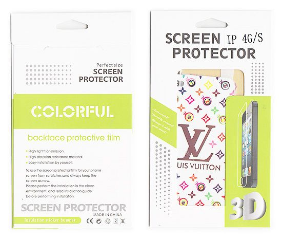 Buy Designer Front And Back Screen Protector Skin For Apple iPhone 4 4s Scr4012 online