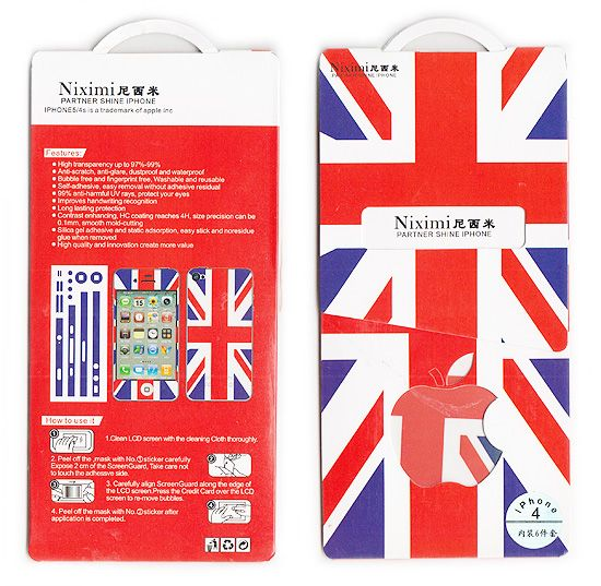 Buy Designer Front And Back Screen Protector Skin For Apple iPhone 4 4s Scr4018 online
