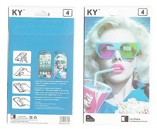 Buy Designer Front And Back Screen Protector Skin For Apple iPhone 4 4s Scr4028 online