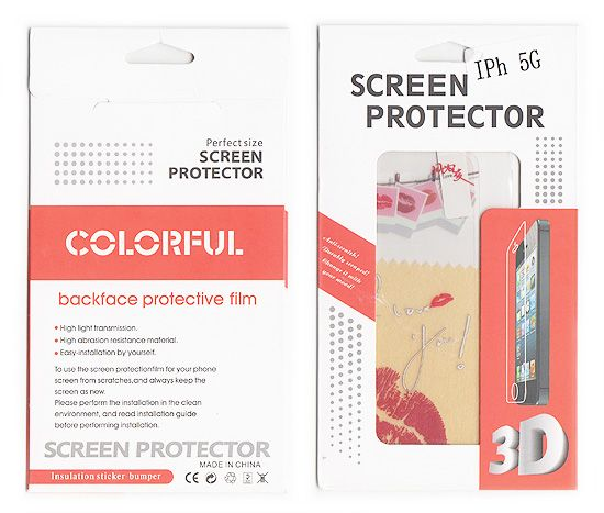 Buy Designer Front And Back Screen Protector Skin For Apple iPhone 5 Scr503 online