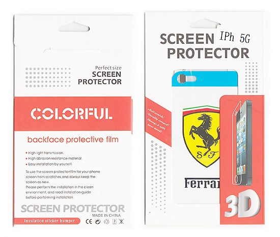 Buy Designer Front And Back Screen Protector Skin For Apple iPhone 5 Scr504 online