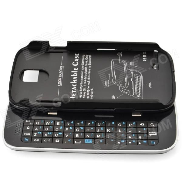 Buy Sliding Out Bluetooth Detachable Keyboard Case Cover For Samsung Galaxy S4 online