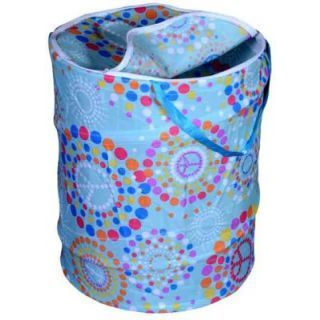 Buy Multicolor Attractive Round Shape Foldable Small Laundry Bag - Cnjhusl online