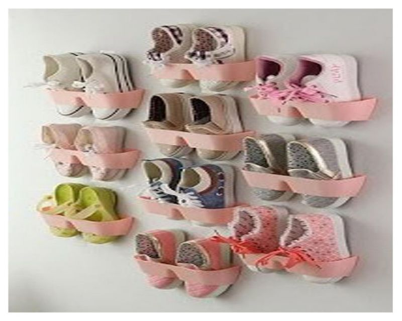 Buy Pink Shelf Stick On The Wall For Footwear Collection 10 Pieces - Stkw10p online