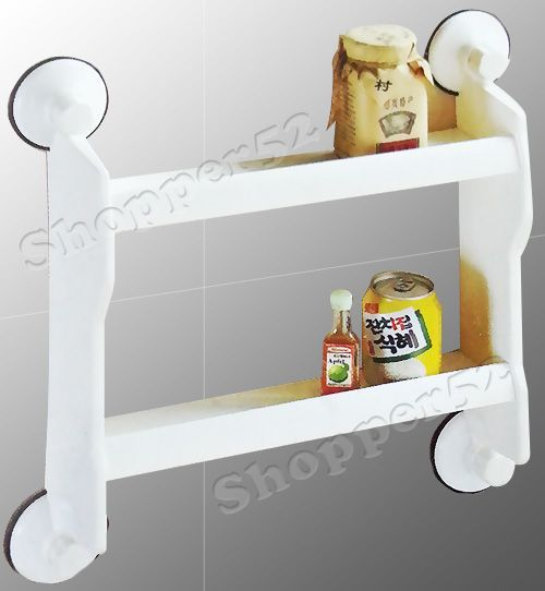 Buy Two Layer Home Kitchen Wall Storage Rack Shelf With Suction Cup Tiles online