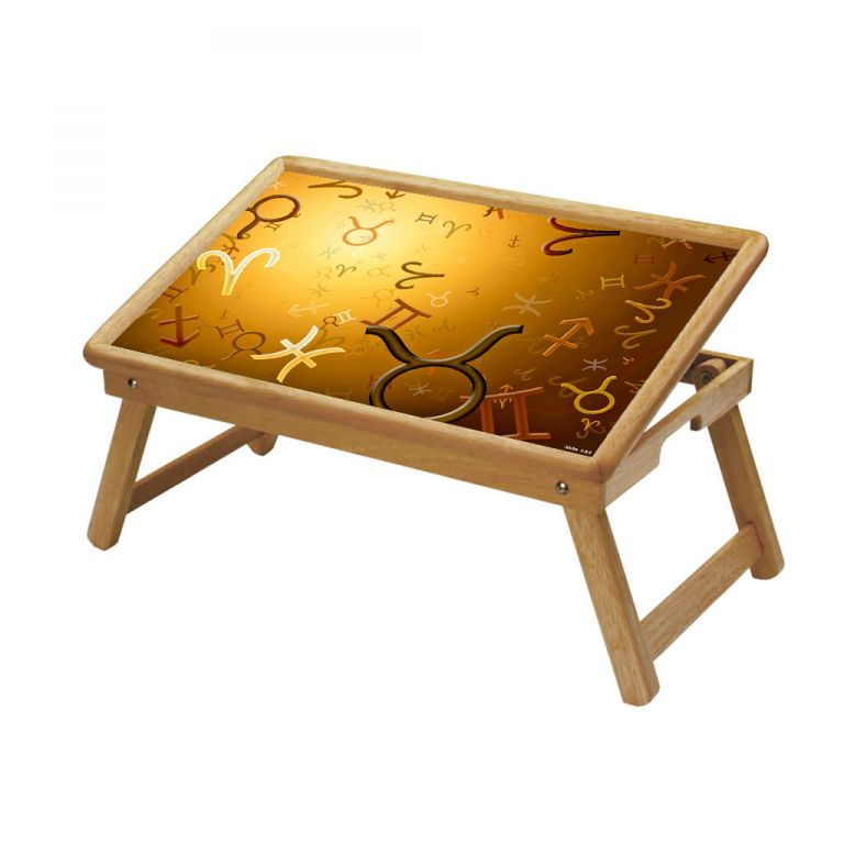 Buy Signs & Symbols Multipurpose Foldable Wooden Study Table For Kids online