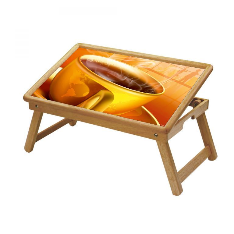 Buy Chai & Coffee Multipurpose Foldable Wooden Study Table For Kids online