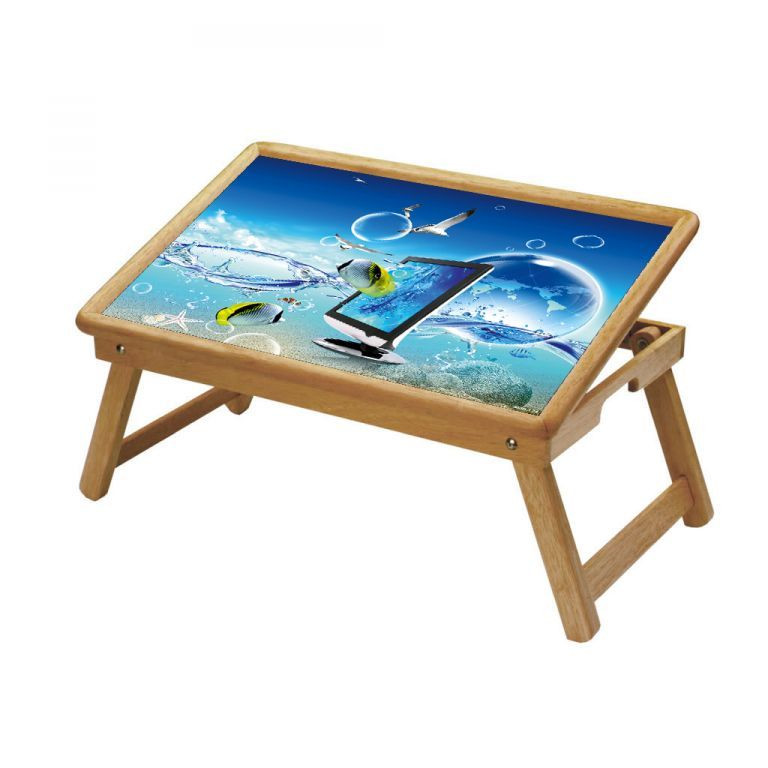 Buy Fish Multipurpose Foldable Wooden Study Table For Kids online