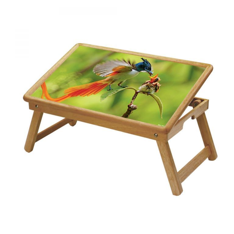 Buy Birds Multipurpose Foldable Wooden Study Table For Kids online