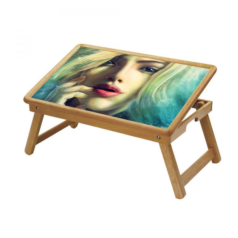 Buy Ethnic Multipurpose Foldable Wooden Study Table For Kids - Study 441 online