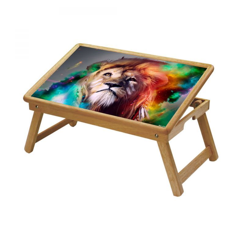 Buy Lion King Multipurpose Foldable Wooden Study Table For Kids - Study 474 online