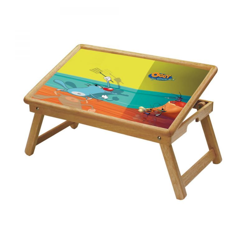 Buy Oggy And The Cockroaches Multipurpose Foldable Wooden Study Table For Kids online