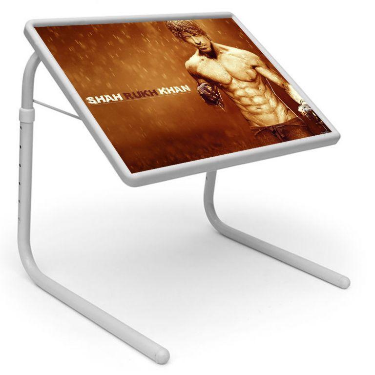 Buy Sharukh Khan Table Designer Portable Adjustable Dinner Cum Laptop Tray Table online