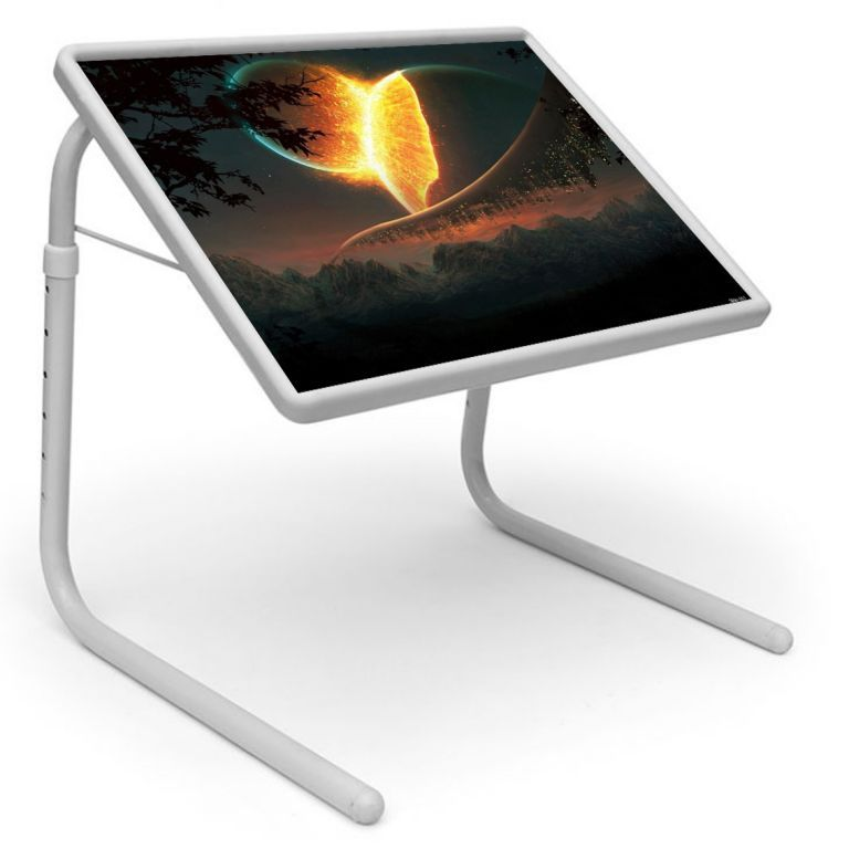 Buy Universe Table Designer Portable Adjustable Dinner Cum Laptop Tray Table 461 online