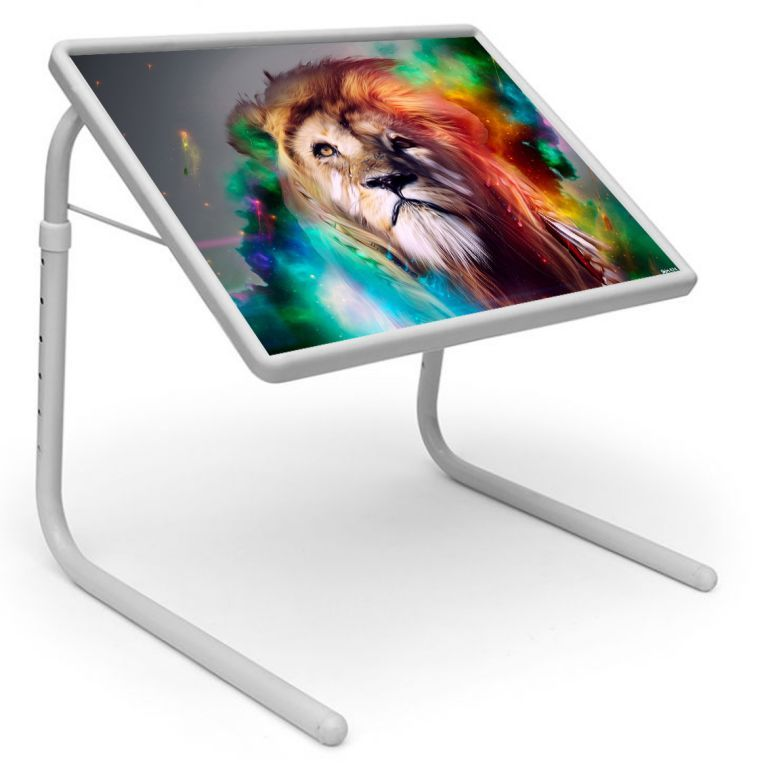 Buy Lion King Table Designer Portable Adjustable Dinner Cum Laptop Tray Table online