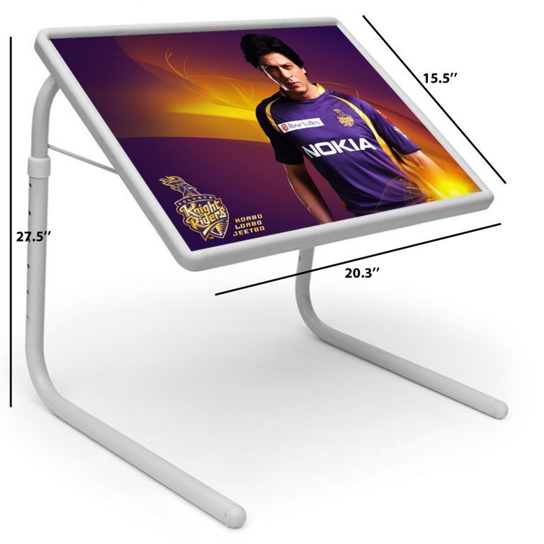 Buy Shahrukh Khan Table Designer Portable Adjustable Dinner Cum Laptop Tray Table online