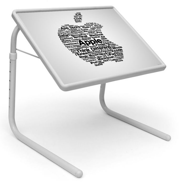 Buy Apple Logo Table Designer Portable Adjustable Dinner Cum Laptop Tray Table 535 online