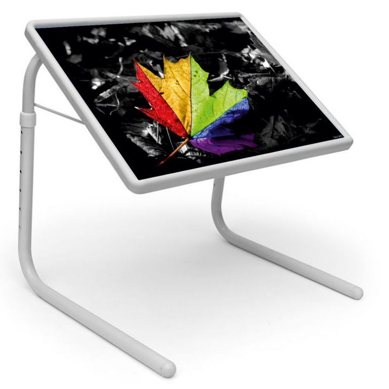 Buy Table Mate Designer Portable Adjustable Dinner Cum Laptop Tray Table (005) online