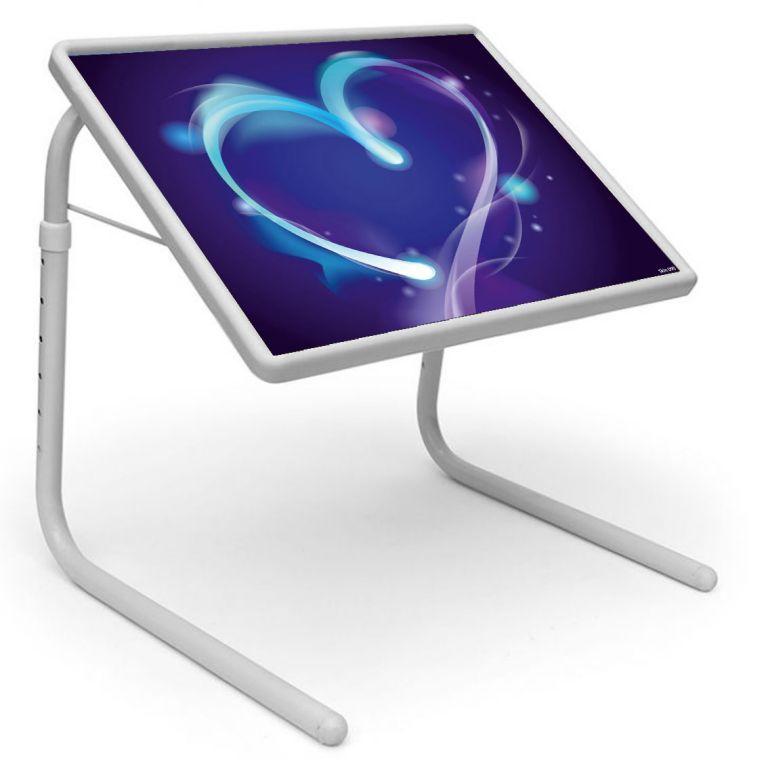 Buy Table Mate Designer Portable Adjustable Dinner Cum Laptop Tray Table (090) online