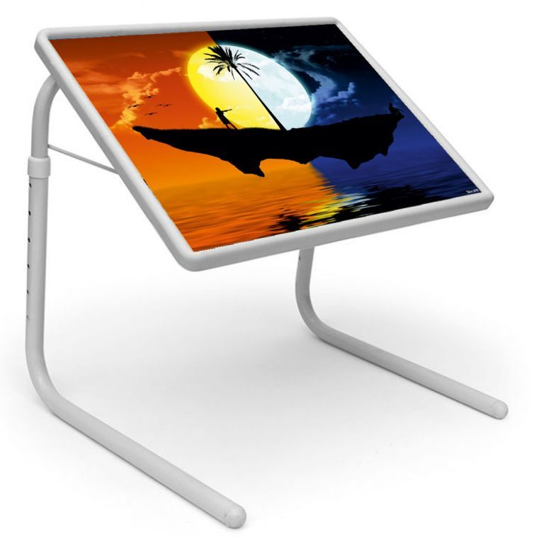 Buy Table Mate Designer Portable Adjustable Dinner Cum Laptop Tray Table (099) online