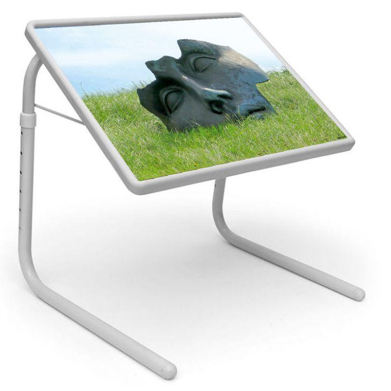 Buy Table Mate Designer Portable Adjustable Dinner Cum Laptop Tray Table (115) online