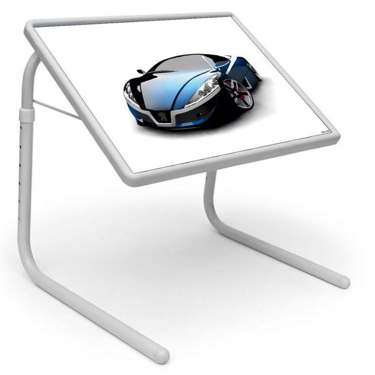 Buy Table Mate Designer Portable Adjustable Dinner Cum Laptop Tray Table (220) online