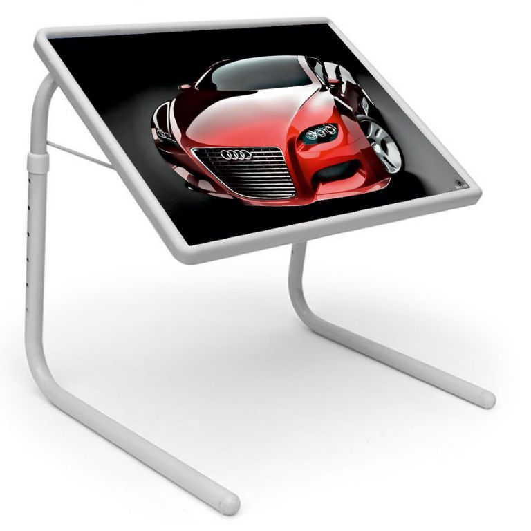 Buy Table Mate Designer Portable Adjustable Dinner Cum Laptop Tray Table (222) online