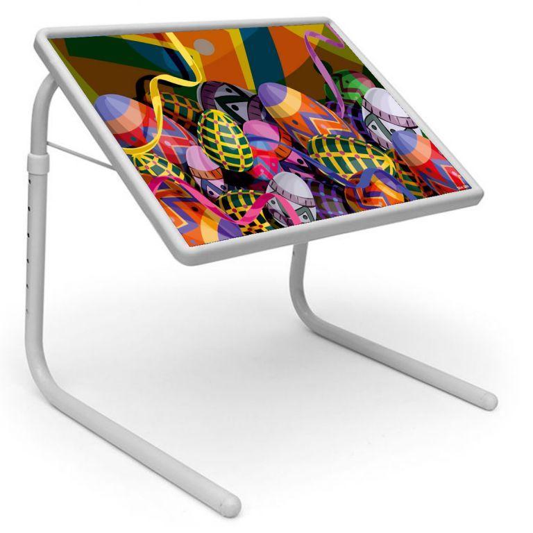 Buy Table Mate Designer Portable Adjustable Dinner Cum Laptop Tray Table (306) online
