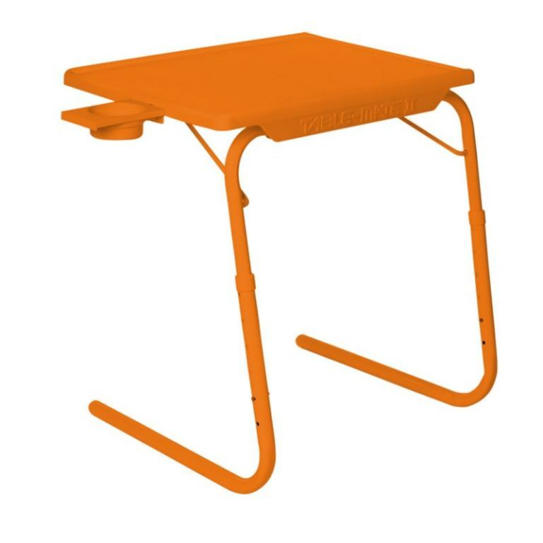Buy Orange Table Mat II 2 Folding Portable Adjustable Table With Cup Holder Orange online