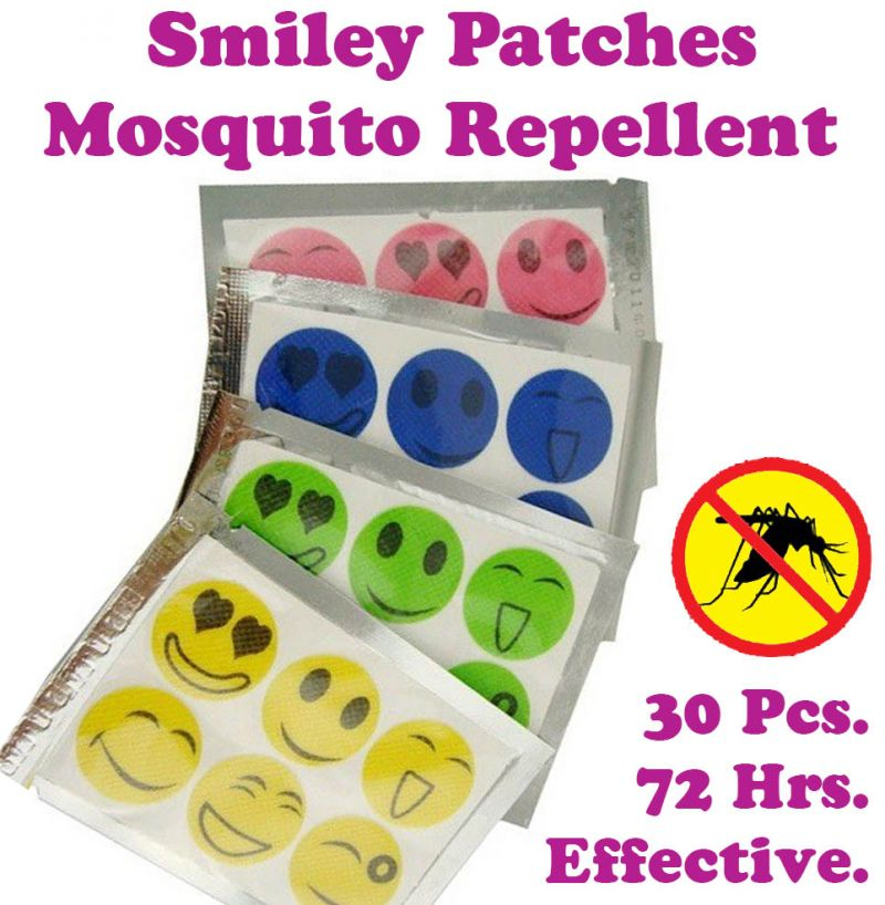 Buy Gadget Hero's Smiley Mosquito Repellent Patches With Natural Plant Extract online