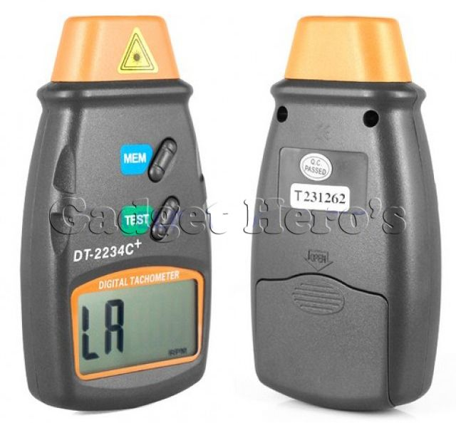 Buy Gadget Hero's Digital Laser Non Contact Photo Tachometer Rpm Meter online