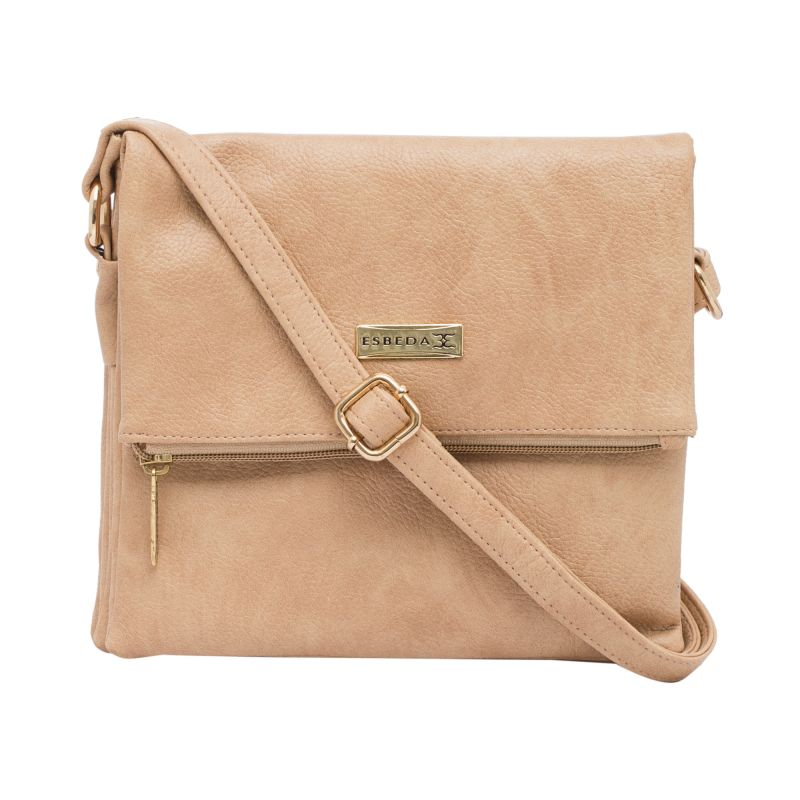 Buy Esbeda Beige Color Solid Drymilk Slingbag For Women (product Code - 1737) online