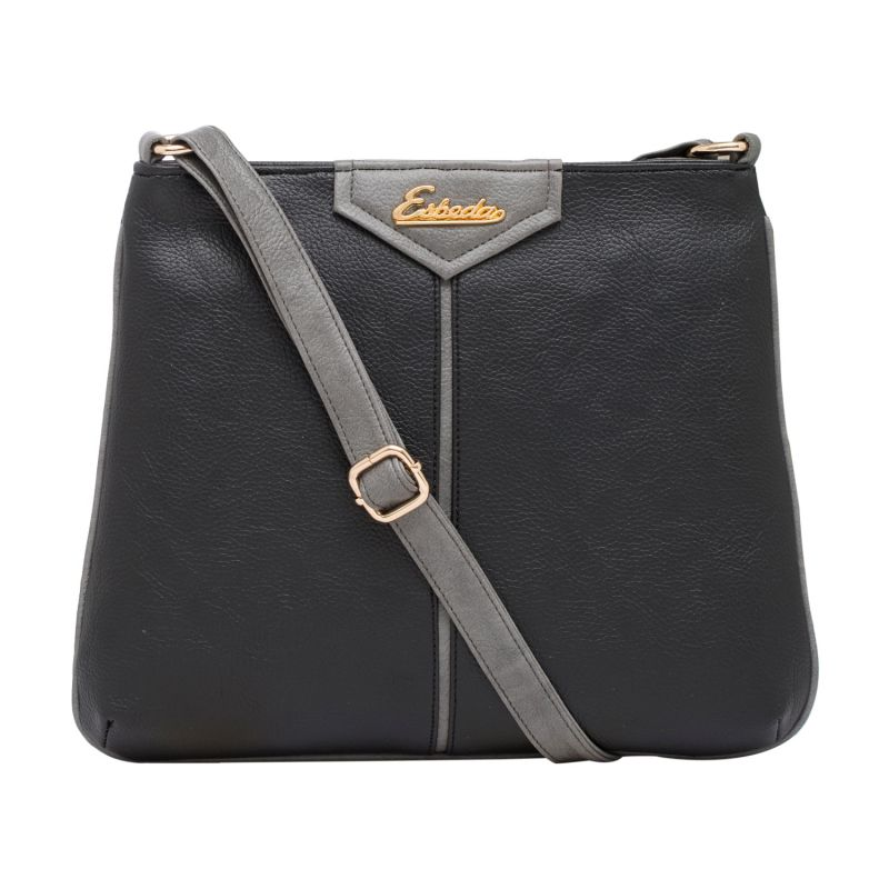 Buy Esbeda Black Color Solid Pu Synthetic Material Slingbag For Women online